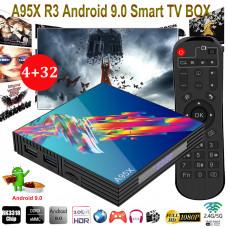A95X R3 SMART-TV BOX med Android 9.0  inkl 1 års Abb inkl ALL Sport & Film